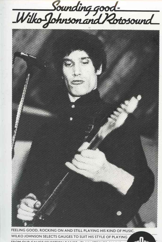Wilko Johnson Dr Feelgood Rotosound advert