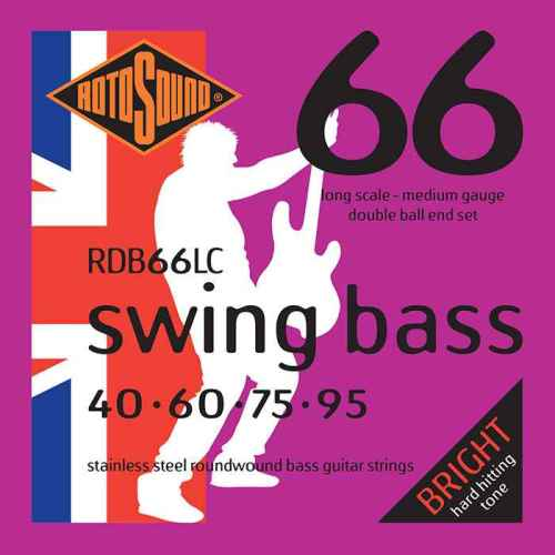 RDB66LC Double Ball End double ballend doubleball Rotosound RDB66 LC Swing Bass strings. Steel roundwound round wound swingbass bass wire precision jazz Rickenbacker 4003 John Entwistle bajo guitare rock metal standard gauge regular bright