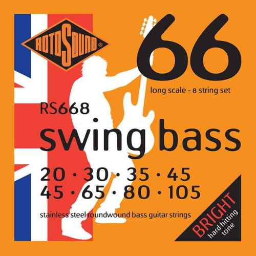 SM668 8 string hybrid Swing Bass 66 8string bass guitar set of string 30 125 gauge bright stainless steel tone roundwound round wound