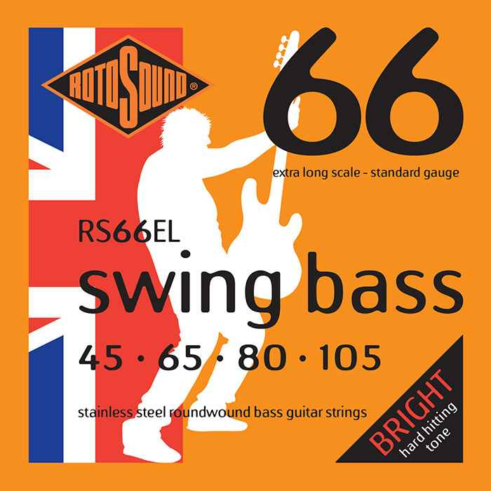 RS66EL Rotosound RS66 EL Swing Bass extra long scale bas guitar strings. Steel roundwound round wound swingbass bass wire precision jazz Rickenbacker 4003 John Entwistle bajo guitare rock metal standard gauge regular bright