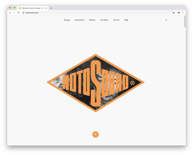 Rotosound music strings new website screenshot 2020