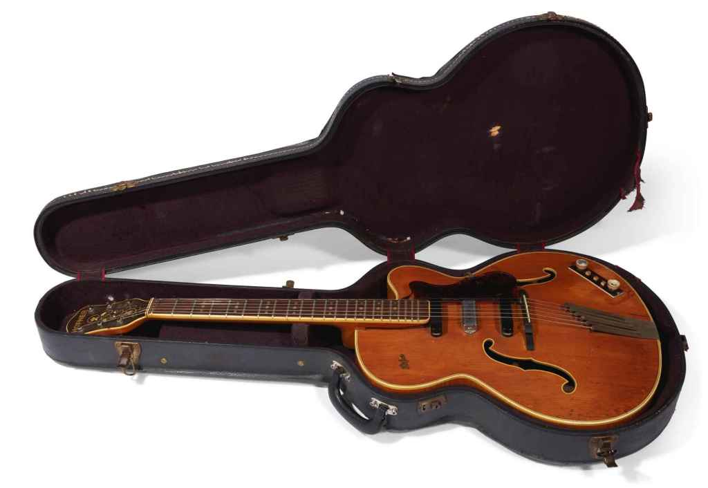 George Harrison's guitar strings Hofner President case. Rotosound