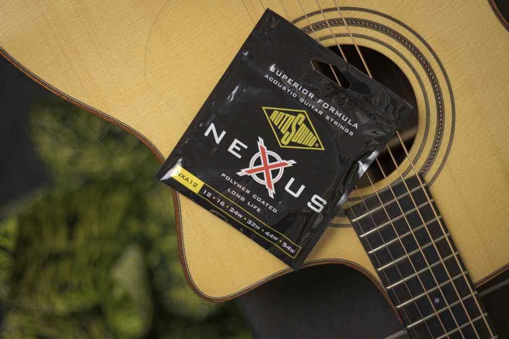 Rotosound Nexus Acoustic NXA12 polymer coated long life strings packet