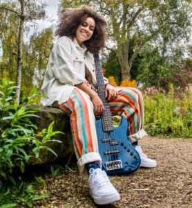 Isobella Burnham bassist Rotosound Strings Dancin Garuda press photo cropped