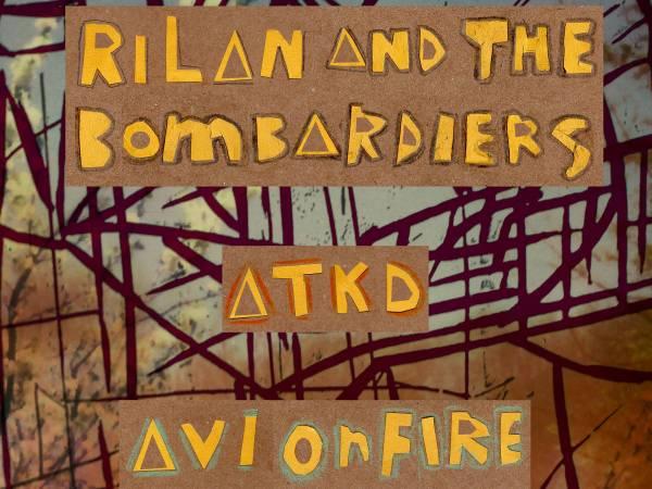 Rilan & the Bombardiers, AVI ON FIRE & ATKD 9 april Rotown
