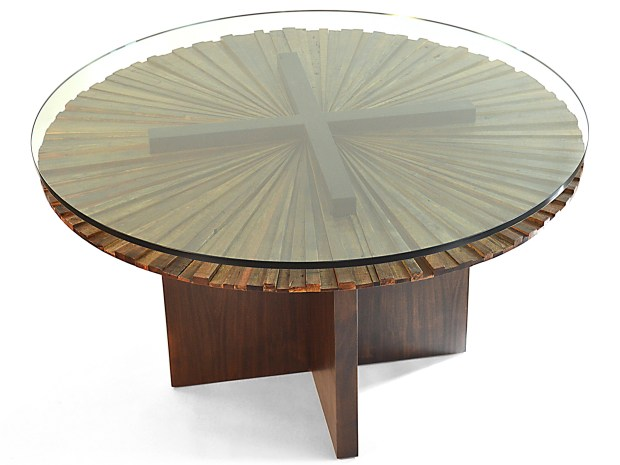 Rotsen-Furniture-Round Mandala Dining Table - Stained Wood Base by Rotsen Furniture 07