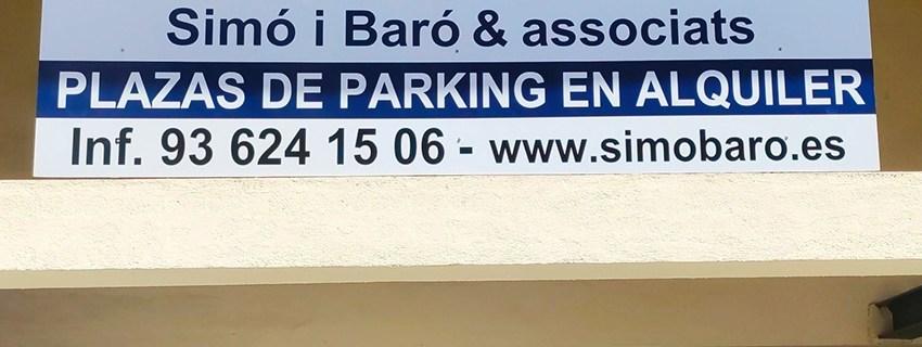 placa corte vinilo parking