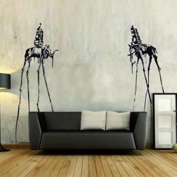 Vinilo decorativo elefantes Dalí