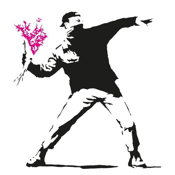 Lanzador de flores de Banksy