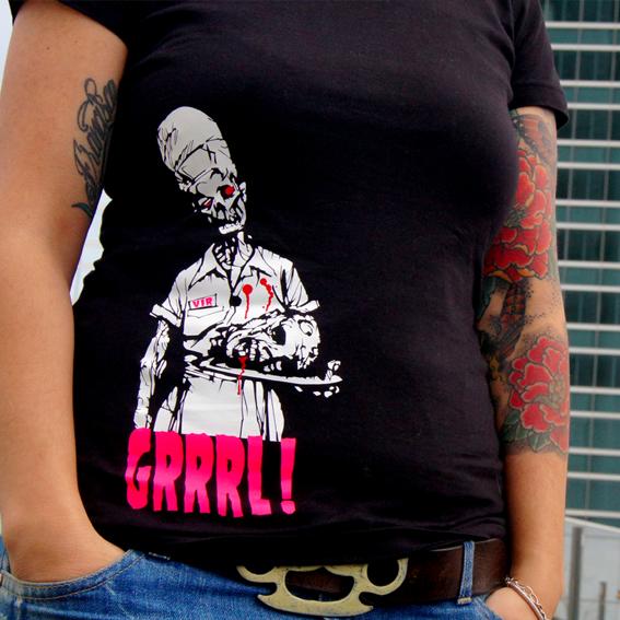 camiseta zombie camarera