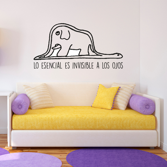 principito elefante pared