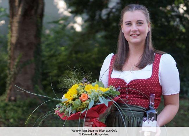Weinkönigin Susanne Riepl aus Gols