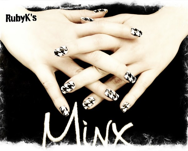 Minx Nail Houndstooth
