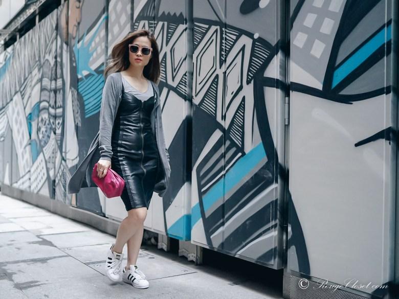 Dress down Leather Dress