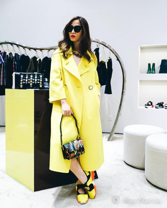 Marni SS16, yellow coat