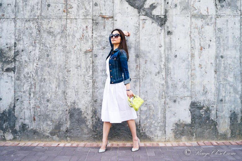 Rouge Closet Staples: White Cotton Skirt
