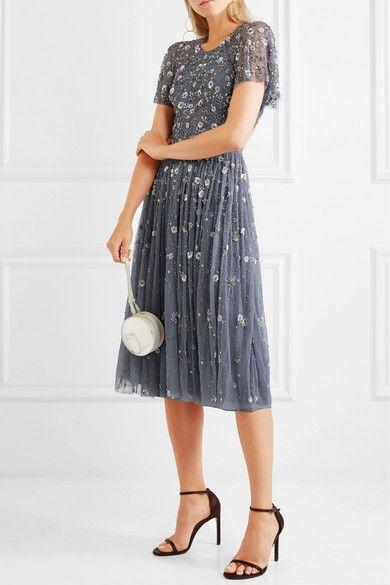 Needle & Thread Comet open-back embellished tulle dress