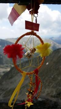 Capteurs de rêves au sommet du Canigou