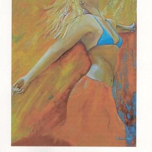 Affiche exposition de peinture de Carole Alexandre en 2006 au Casino du Boulou