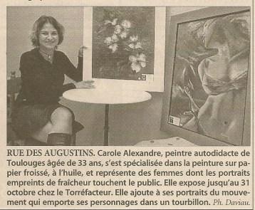 Article Exposition chez le Torréfacteur à Perpignan en 2005