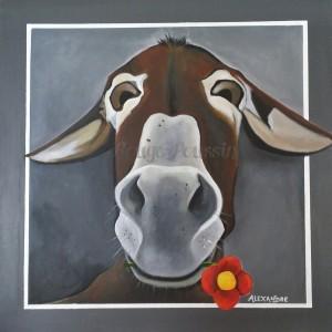 Tableau de Carole Alexandre représentant un âne