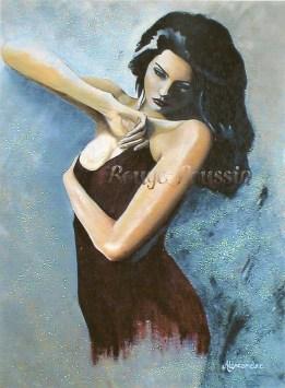 """""""Volupté"""" : Peinture à l'huile"""