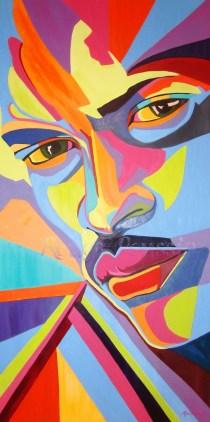"""""""L'homme de couleurs"""" : Tableau de Carole Alexandre"""