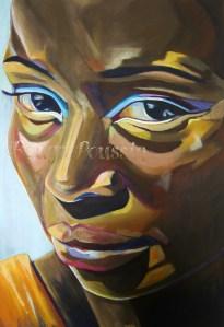 """Peinture Acrylique : """"Femme de Couleurs"""""""