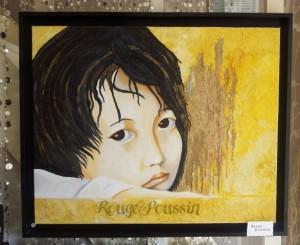 Jolie moue : tableau à l'huile de Carole Alexandre