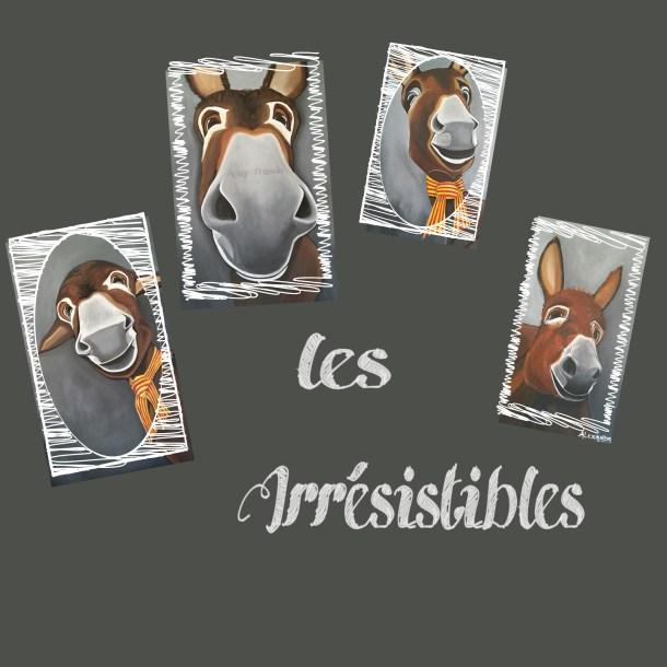 """Tableau de Carole Alexandre intitulé """"Les Irrésistibles"""""""
