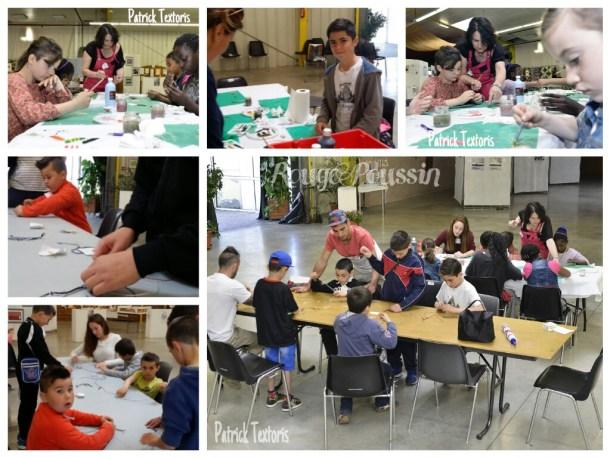 Ateliers avec les enfants du centre aéré de Bompas