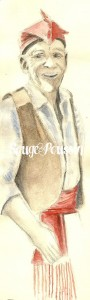 Dessin à l'aquarelle du muletier de Serralongue