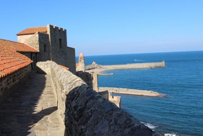Clocher de Collioure : vue des remparts du Château Royal