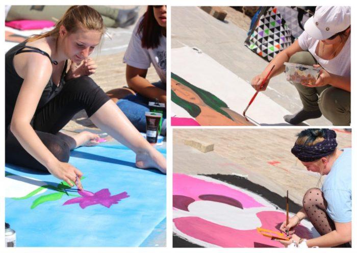Les peintres qui participent au concours de Toulouges