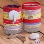 DIY : Corbeille bi-matière en tissu et au crochet