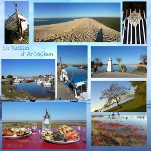 Série de photos du bassin d'Arcachon