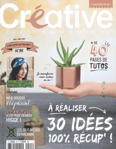 "Couverture du magazine bimestriel ""Créative"" numéro 35 de mai-juin 2017"
