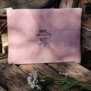 Pochette en tissu - coloris rose