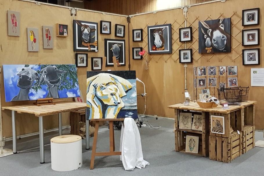 Stand de Rouge Poussin à la foire expo de Thuir en Octobre 2018