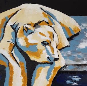 Un ours polaire pour une déco ambiance nordique