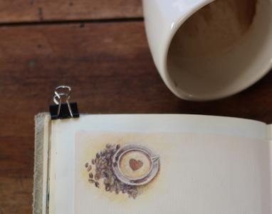 Atelier créatif : peindre avec du café