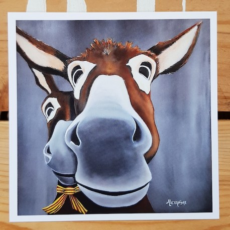 La carte postale Léogâne est la reproduction du tableau original réalisé par l'artiste peintre Carole Alexandre en novembre 2016