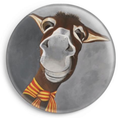 Le magnet Axùrit représente le portrait d'un âne catalan, reproduction du tableau réalisé à l'acrylique par l'artiste peintre Carole Alexandre