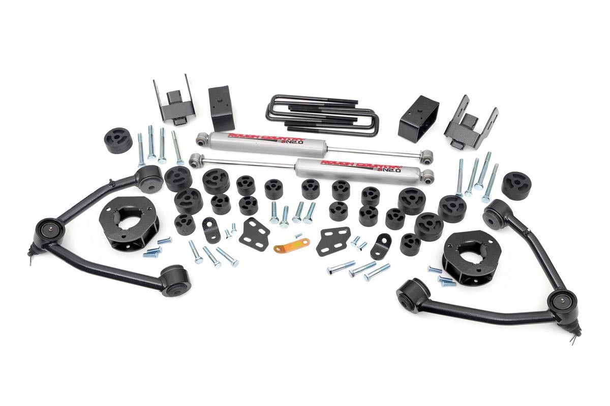 4 75in Combo Suspension Lift Kit For 07 13 Chevy Gmc 2wd