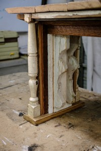 Angel Wing Bench Detail