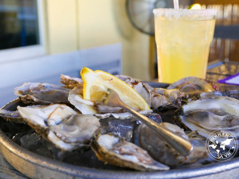 Des huîtres sur glace délicieuses