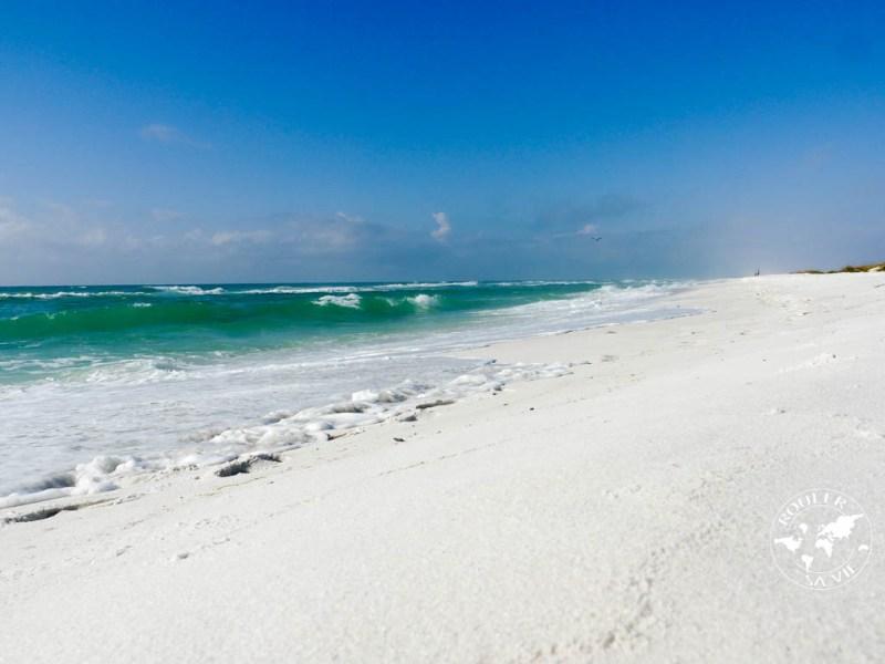 La plage à laquelle nous sommes arrivés après deux jours à rouler. Le paradis !