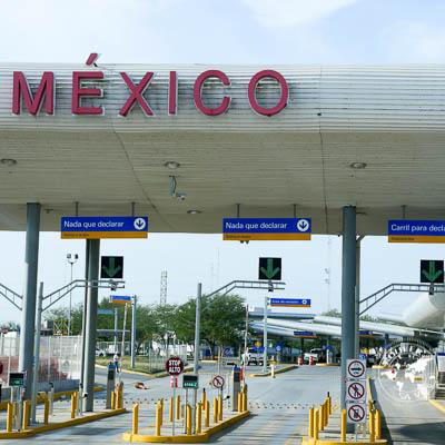Passer la frontière du Mexique en motorisé.