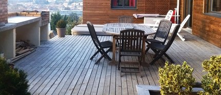 Terrasse bois Fabricant Menuisiser Farigoule sud de la France Gard
