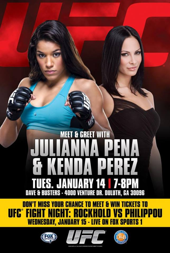Julianna Pena & Kenda Perez Duluth, GA Signing on 1/14/14 at Dave & Busters